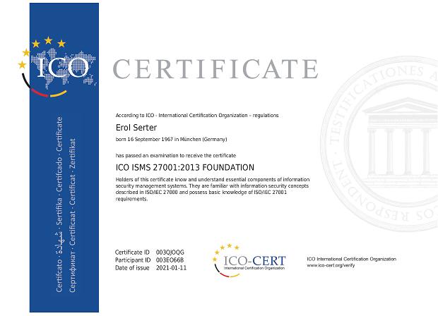 ICO ISMS 27001:2013 FOUNDATION