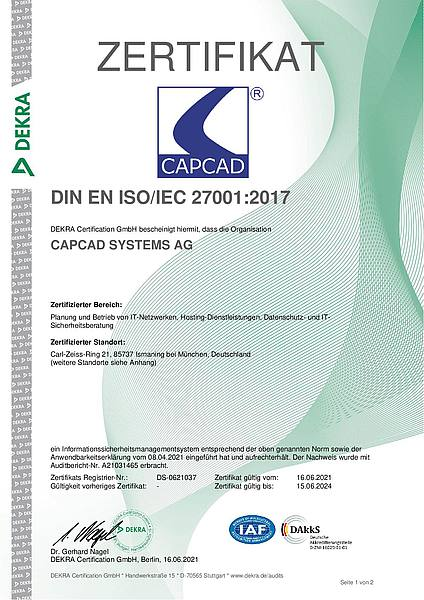 Abbildung ISO 27001 Zertifizierung